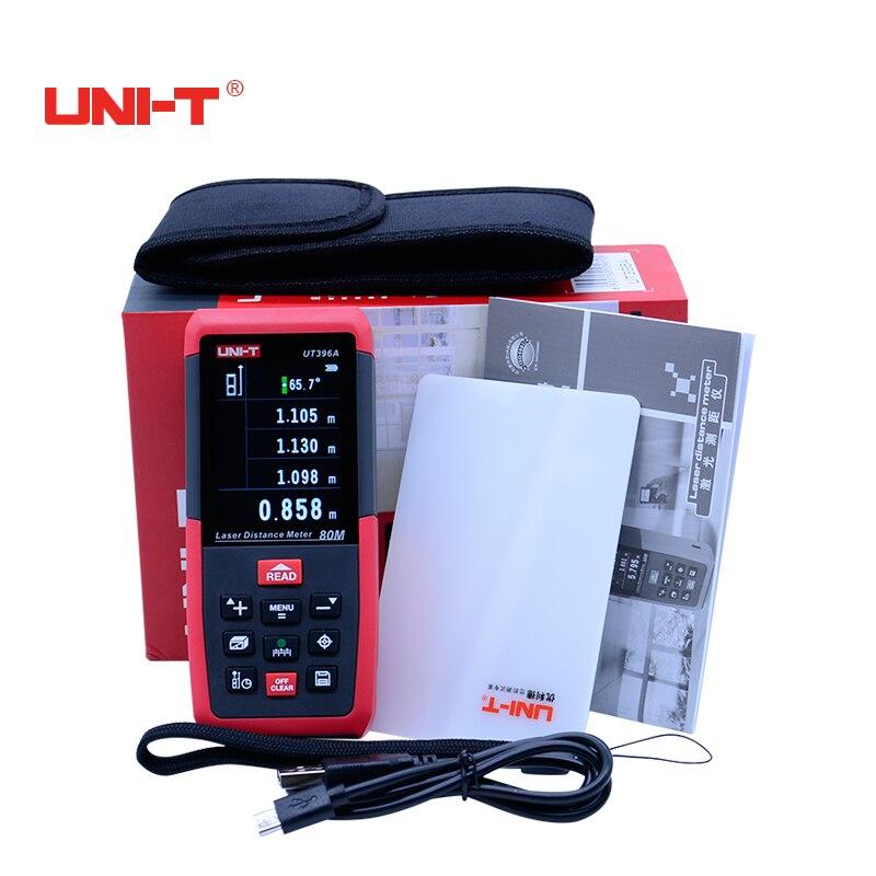 UNI-T Numérique Laser mètre de distance 50 M/70 M/80 M/100 M/120 M Couleur écran protecteur Région/Volume telemetre avec LCD rétro-éclairage affichage