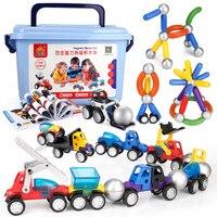 Designer Building Blocks Children DIY Construction Machines Model Set Boy Children Funny Magnets Bricks Game Baby Toys Gifts