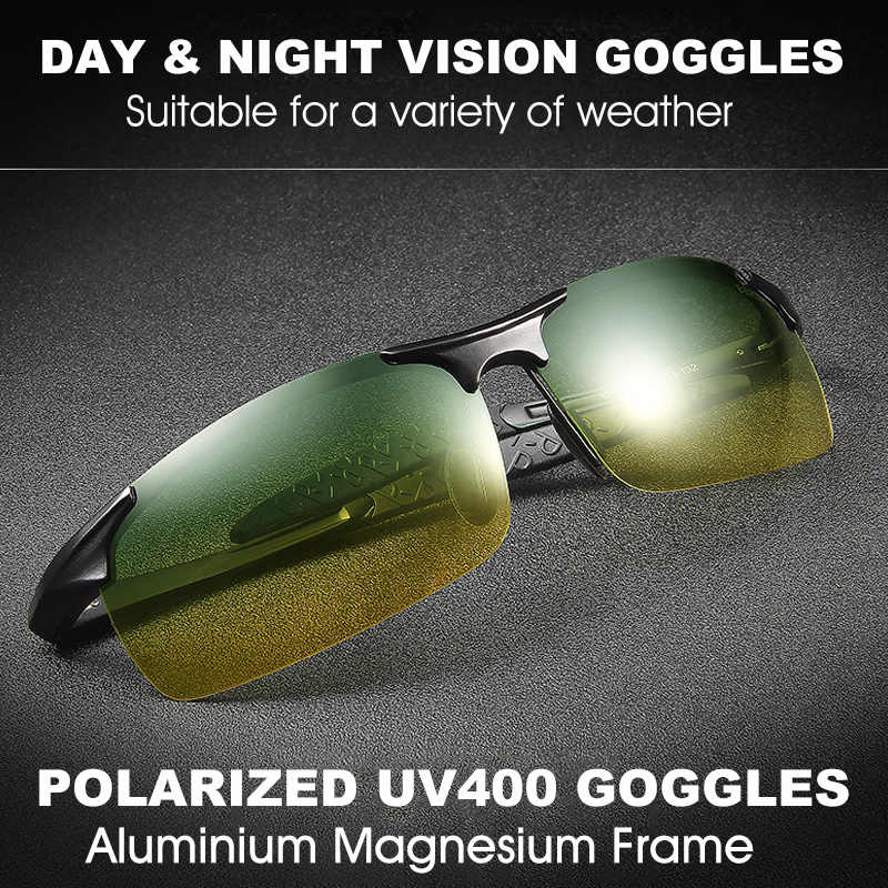 911d2151f1 ... Unisex polarized sunglasses Men Driving Day Night Glasses Male Anti- glare UV400 Eyewear Women Driver ...