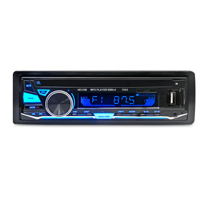 Image 1 - 7003 автомобильный BT MP3 плеер радио Автомобильный MP3 плеер 12 В синий зуб стерео аудио в тире Один 1 Din FM приемник Aux вход