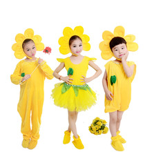 Детский танцевальный костюм с цветами; платье для танцев с подсолнухами; платье с подсолнухами для девочек; милый танцевальный костюм с цветами; костюм с растениями