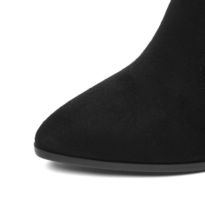 vino Zapatos Tacón gris Las Alto camel Moda Sobre Punta La Tinto naranja Negro Cuadrados En Oscuro azul Rodilla De Botas gris rojo Tamaño Decantación 2019 Dedo Mujeres 34 43 khaki z78xwzqf