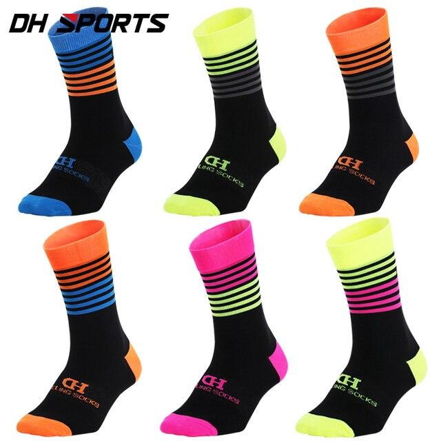 Dh esportes profissionais meias de ciclismo alta legal alto mountain bike meias esporte ao ar livre meias compressão venda correndo desconto 4