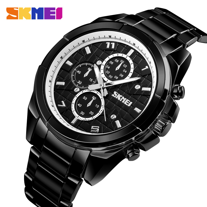 SKMEI Quartz Smart Watch Men Wristwatch Waterproof Bluetooth Smart Watches Calorie SOS Help Men Watch relogio
