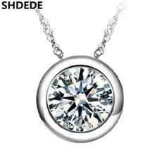 купить Embellished With Crystal from Swarovski Round Pendant Necklaces Cubic Zirconia Fashion Wedding Jewelry Women Accessories +W по цене 190.83 рублей