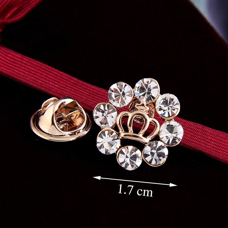 Kawaii Mini Brooches Pins For Women Wedding and party Dresses,Ladies Crown Brooch pins,Rhinestone dangling samll brooch pins