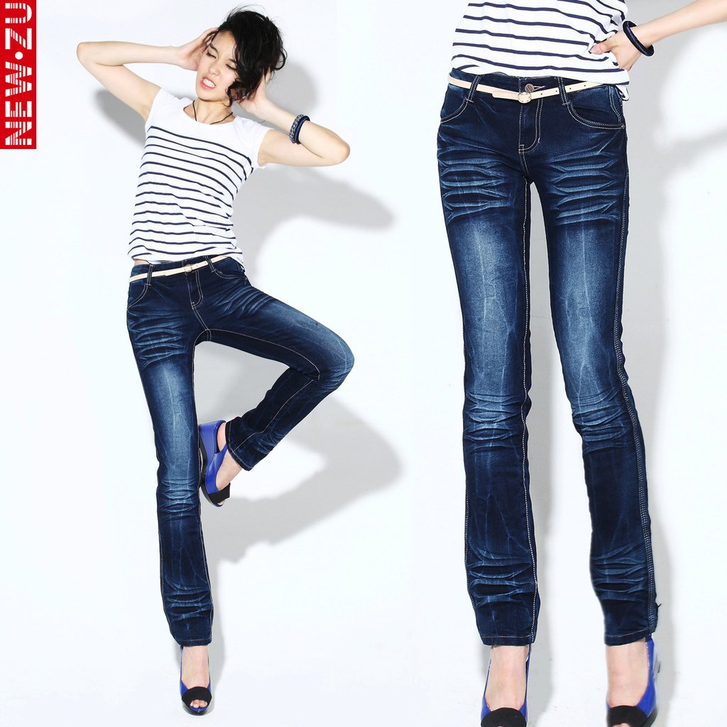 Jeans Women 26,27,28,29,30 Size Dark Blue Pants Jean Girl,2012 New ...