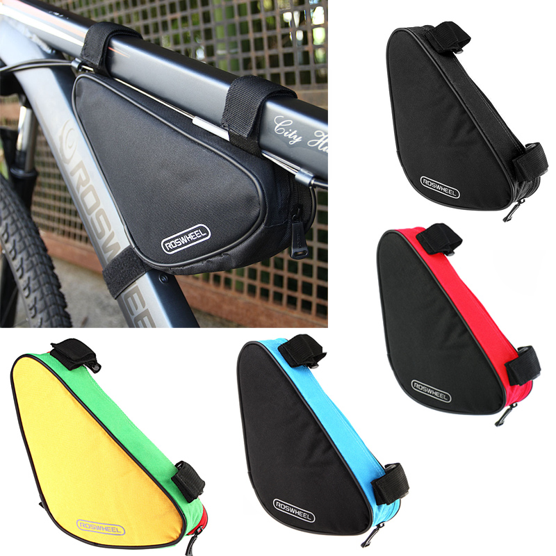 roswheel 4 colors waterproof 15l outdoor triangle cycling bicycle front tube frame bag mountain bike
