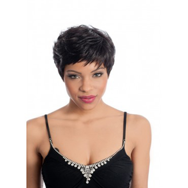 HAIRJOY Black Color Short Straight Synthetic Ladys' Fashion Sexy Hair Wig/Wigs for Dailiy Life
