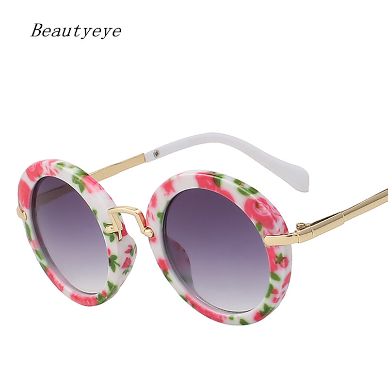 Beautyeye Fashion Round Kids Sunglasses Children Sun Glasses Anti-uv Baby Vintage Eyeglasses Girl Cool 6Color Infantil UV400