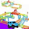 DIY Track Electric Rail Car Model Set Gift For Kids
