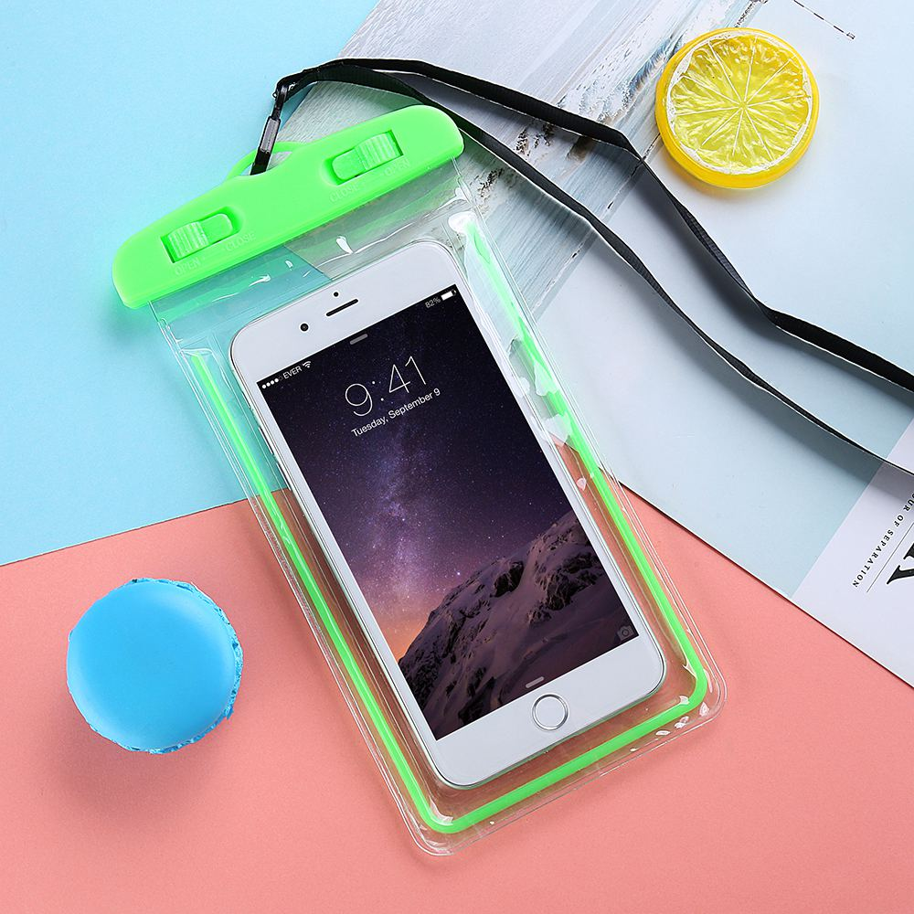 promo code f4b04 8a7a2 Waterproof Phone Samsung Galaxy C10 C9 Pro S8 S9 Plus Cover Luminous  Watertight Pouch Bag Galaxy A510