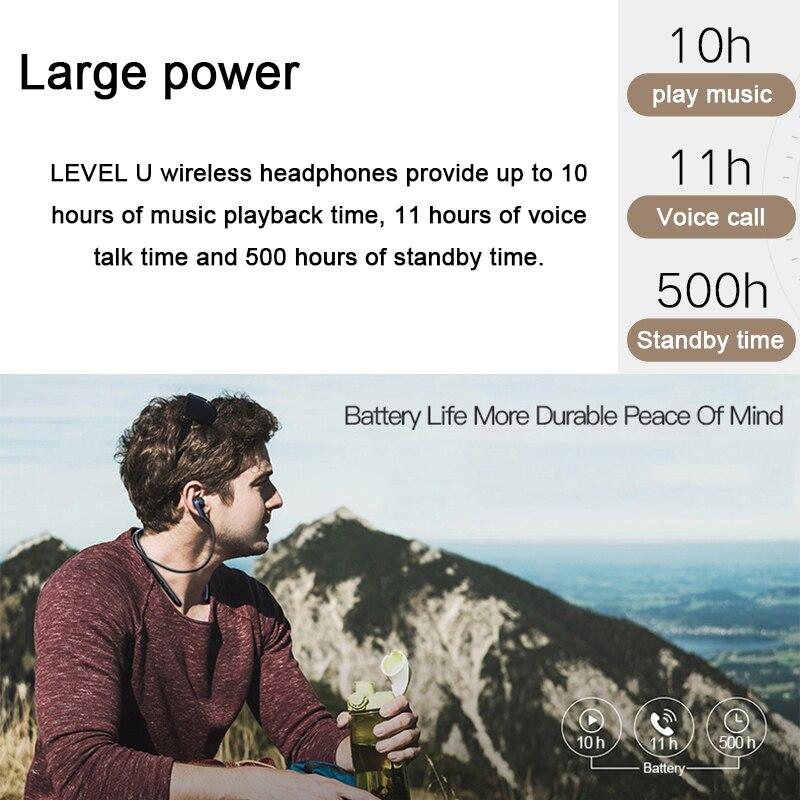 SAMSUNG Level U Écouteurs Intra-auriculaires Sans Fil Bluetooth casques Collier Antibruit Soutien A2DP, HSP, HFP pour Galaxie 8 S8plus - 6