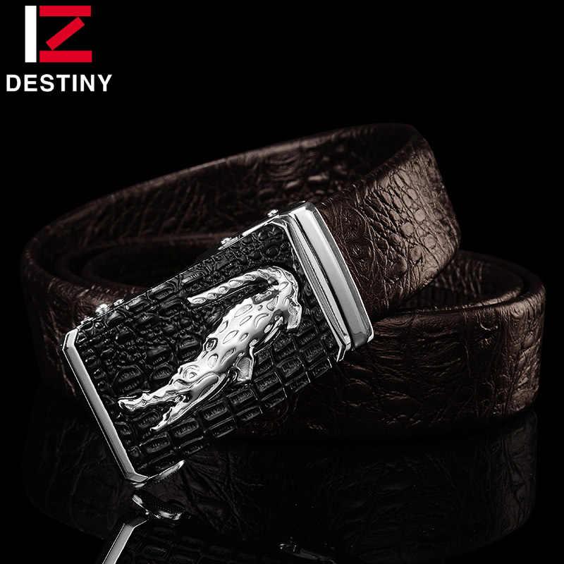 Дизайнерские ремни для мужчин, высокое качество, мужской ремень из натуральной кожи, роскошный известный бренд, логотип крокодила, серебро, золото, Ceinture Homme