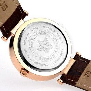 Image 4 - Julius Homme reloj de cuarzo japonés para hombre, reloj Retro de moda, de cuero, regalo de cumpleaños, Navidad padre, 059