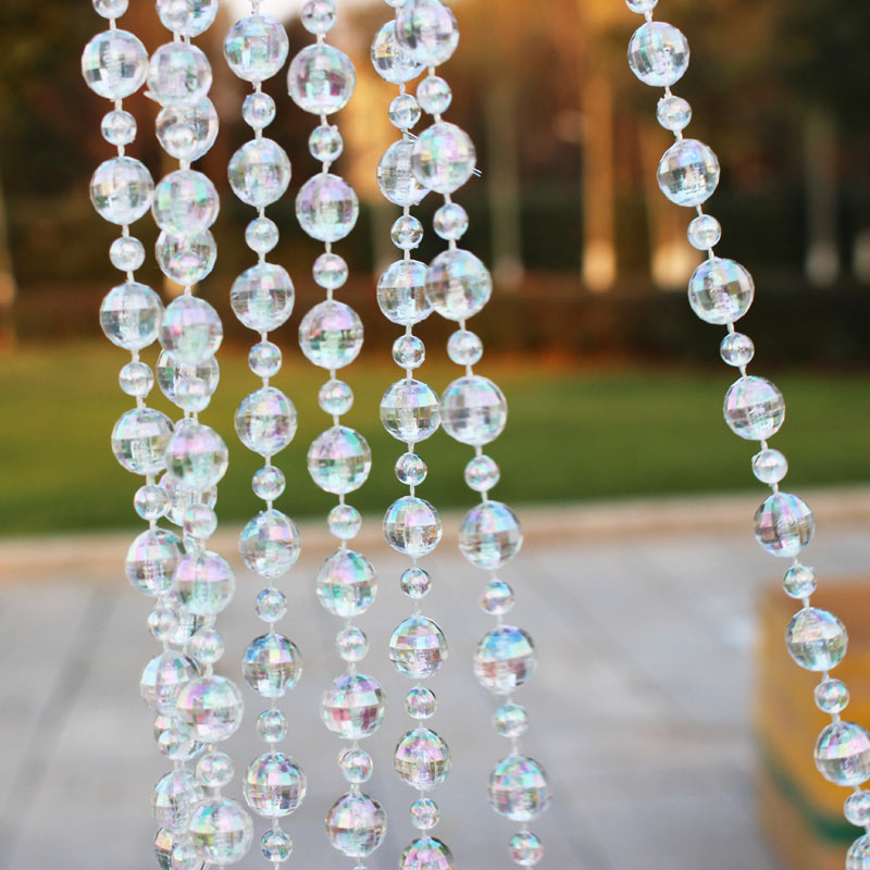10M/Roll Transparent Beads Chain Wedding Door Curtain