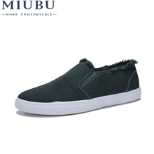 MIUBU 2019 Fashion Summer Men Canvas Shoes Breathable Casual Loafers Comfortable Ultralight Lazy Flats