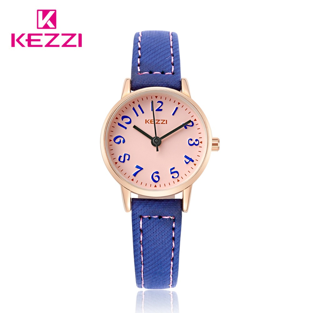 KEZZI fashion brand watches women leather strap wristwatches quartz clocks