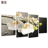 HD Print 4PC Framed Flower Canvas Art Wall Pictures For Living Room Large Modern Cuadros Decoracion