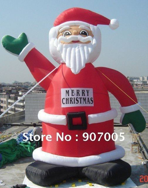 dd17 10mh 33 huge commercial airblown inflatable santa claus xma party decoration 1 ce