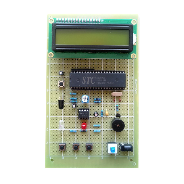 Heart Rate Meter Based on 51 Single-chip Computer Graduation Design Pulse Measuring Instrument Universal Board Making Kit