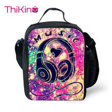 Thikin Rock Music Cooler Lunch Box School Portable Insulated Bag Tote PouchThermal Food Picnic Bags For Women Kids