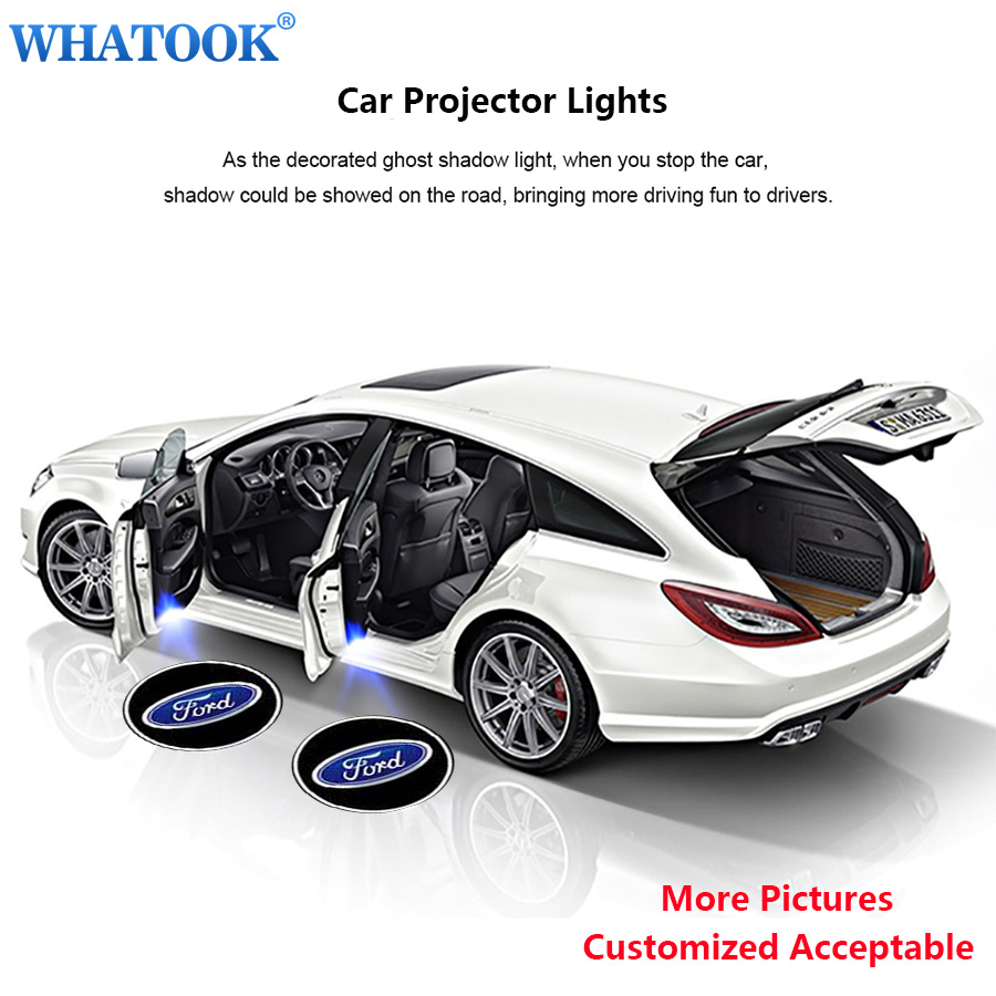 3D Wireless Car Door Step welcome LED Light Logo Projector Laser Light Ghost Shadow Light Batman Car-styling Car Interior Lamp 1 pair auto brand emblem logo led lamp laser shadow car door welcome step projector shadow ghost light for audi vw chevys honda page 1
