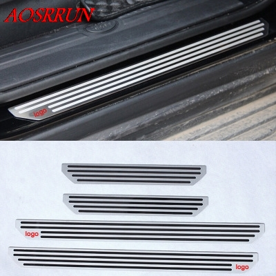 Many styles Stainless Steel Door Sill Strip Welcome Pedal Trim Auto Car-Styling car Accessories For LAND ROVER DISCOVERY 4 LR4 power booster gas pedal accessories speed regulator car strong booster electronic throttle controller for land rover discovery 3