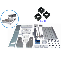 3040 DIY CNC frame lathe kit of cnc router kit ball screw engraving machine with 3 pcs stepper motor bracket