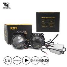 SHUOKE NEW Mini Bi-LED Projector Lens headlight Light 2.5 Inch 12V 36W 6000Lm 6000K Bi Lenses Car Headlight For BMW