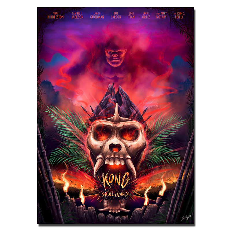 Hot Kong Skull Island 2017 Movie Silk Or Canvas Poster 18