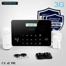 HOMSECUR Wireless&Wired LCD 3G/GSM/PSTN SMS Autodial Burglar Alarm System   LC03-3G
