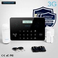 Homsecur беспроводный и проводной ЖК дисплей 3g/GSM/PSTN SMS автодозвон охранной сигнализации Системы LC03 3g