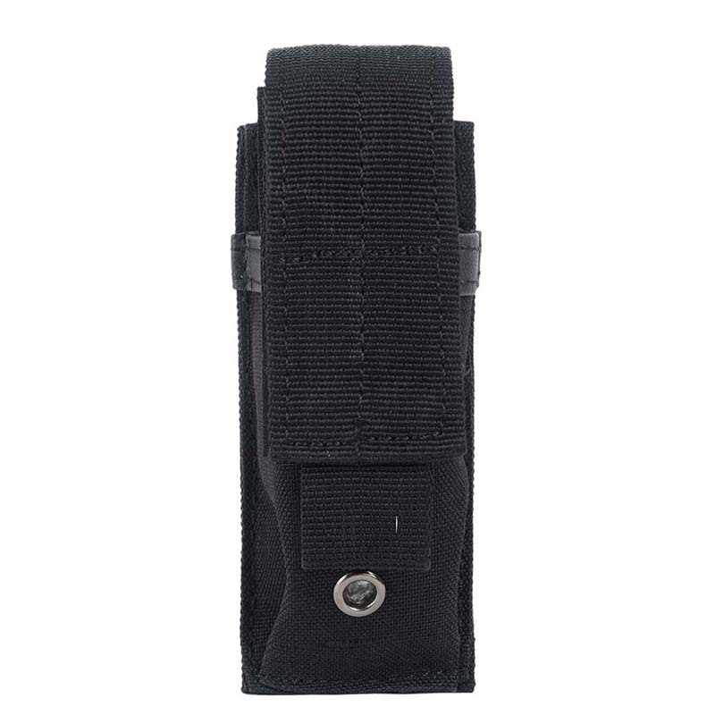 Outdoor Multi-function Military Tactical Single Pistol Magazine Pouch Knife Flashlight Sheath Airsoft Hunting Ammo Molle Pouch
