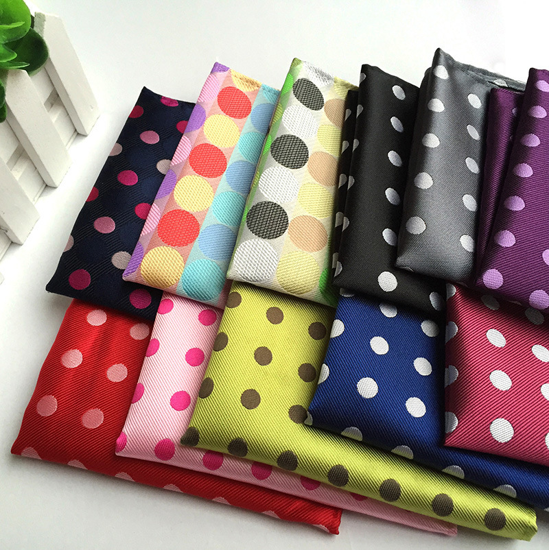 2019 Explosions Polyester Material Fashion Dot Pocket Towel Fashion Unique Simple Business Men's Handkerchief Pocket Towel
