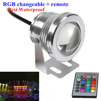 10X 16 Colors Waterproof IP68 10W RGB LED Underwater Light 12V Fountain Pool Lights 1000LM For