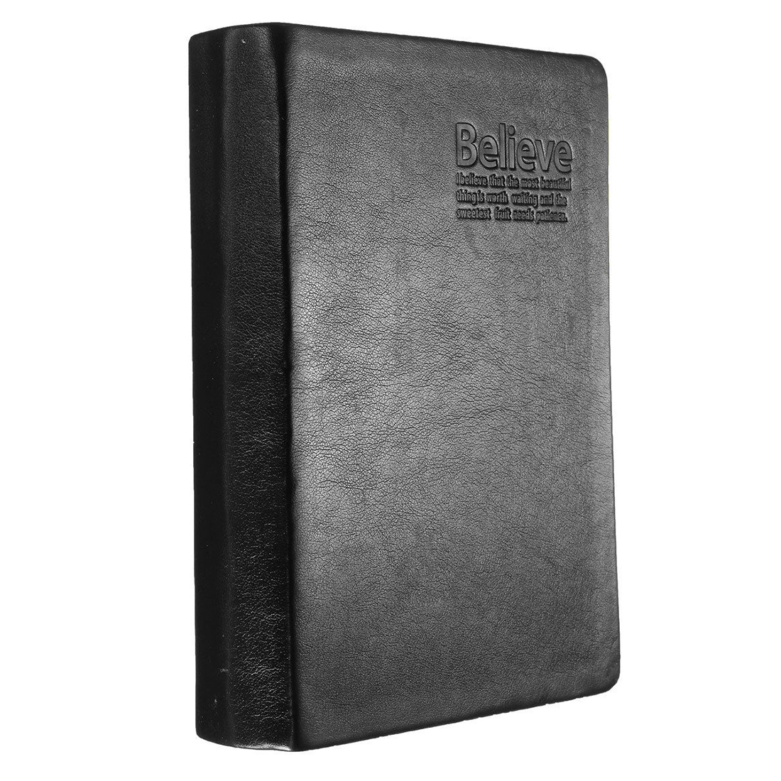 цена Book From Bloc Notes Memo Paper Notebook Agenda Black PU Leather Journal