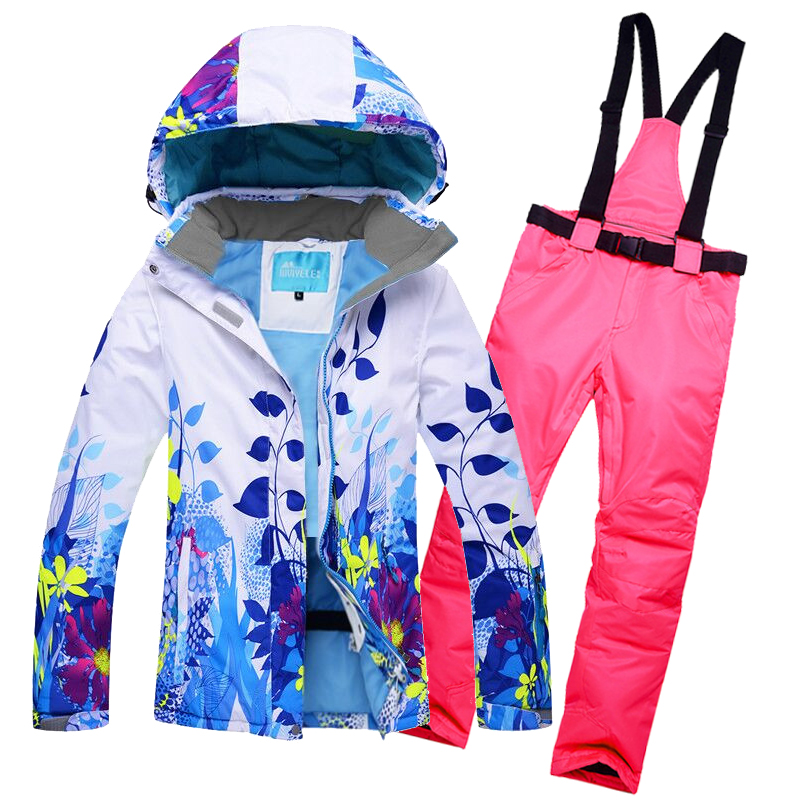 2017 New Women Snow Ski Suit Windproof Waterproof Breathable Women's Snowboard Colorful Clothes Winter Ski Jacket And Pants free shipping the new 2017 gsou snow ski suit man windproof and waterproof breathable double plate warm winter ski clothes
