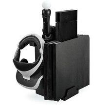 Torre De Armazenamento De Disco Do Jogo Stand Titular Para PS4 TENZERO PS4 Fino PRO Para PS Controlador Move Carregamento VR e Console ventilador de refrigeração