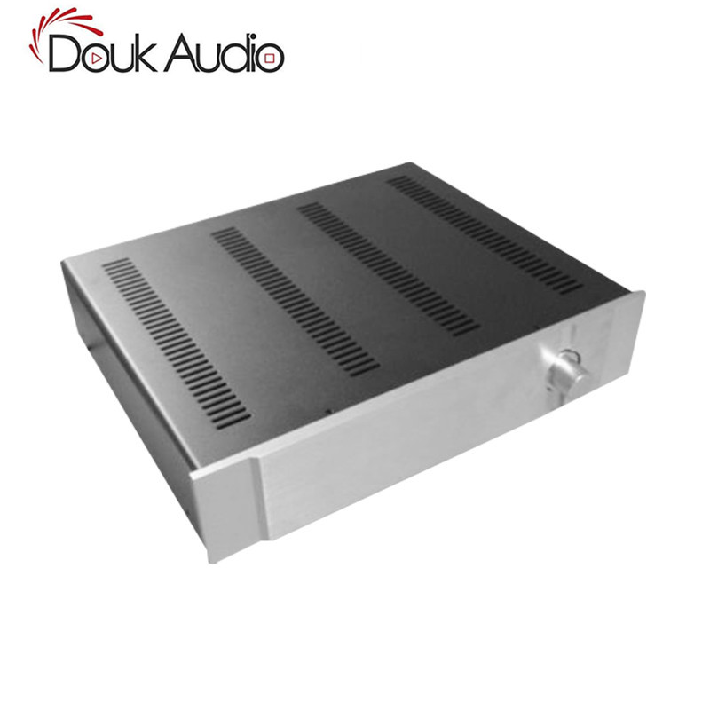 Douk Audio Preamplifier Chassis Aluminum Panel Iron Box DIY Pre-Amp Enclosure douk audio front panel radiating aluminum chassis power amplifie cabinet diy case black box