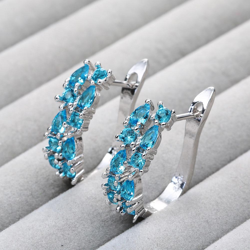 Earrings 2019 Women Stylish Rhinestone Inlaid Ear Clip Huggie Earrings For Women Party Jewelry Gift New Earings(China)