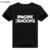 Nova camisa Dos Homens T IMAGINAR DRAGÕES Letras de Impressão de Algodão Lycra ocasional Camisa Engraçada Para O sexo masculino Preto Branco Top Tee para menino
