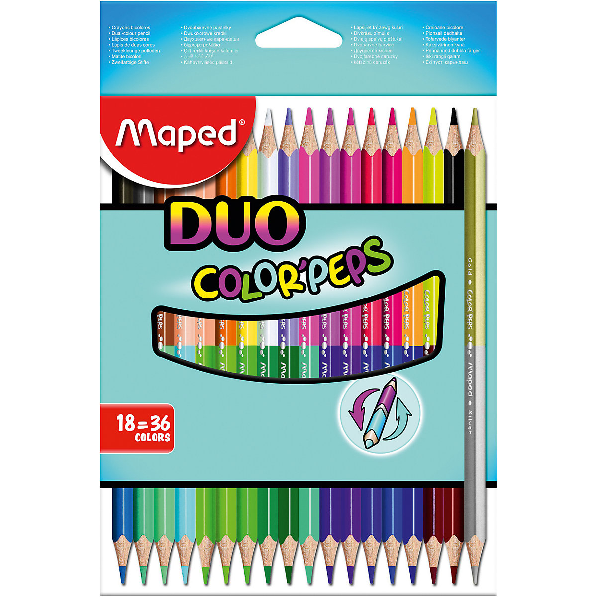 MAPED Wooden Colored Pencils 8422210 colored pencil for boys and girls children sets MTpromo