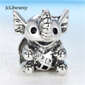 Original European Little Elephant Silver Plated Alloy Bead Charms Fit Pandora Women DIY Bracelets & Bangles Necklace Jewelry