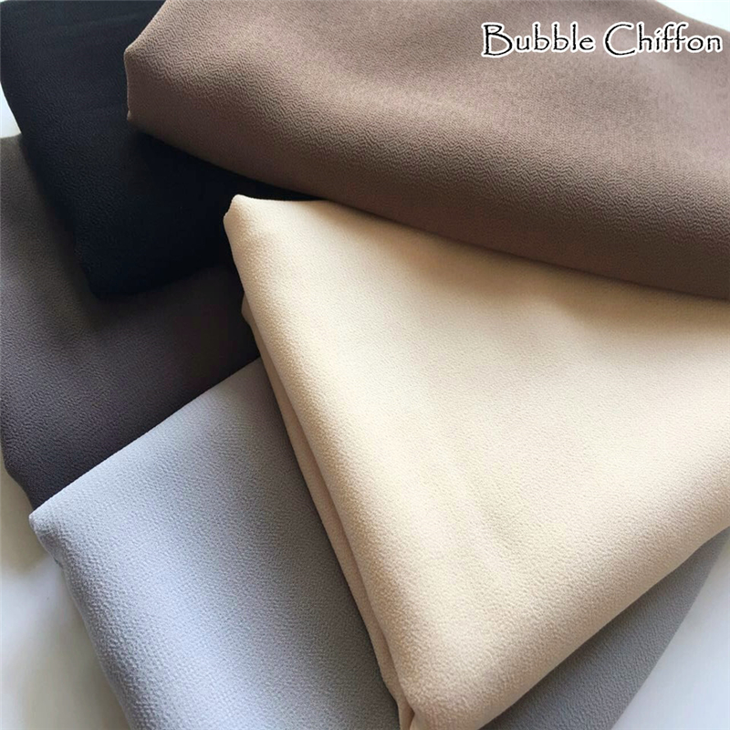 Women bubble Chiffon solid hijab scarf fashion plain shawl wraps lady echarpe muslim wrap foulard soft scarves hot sale scarfs