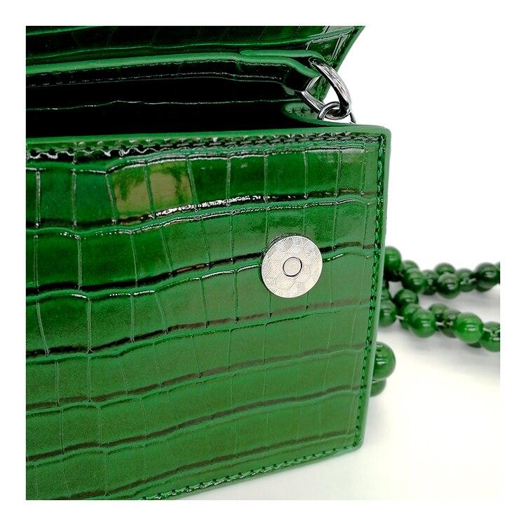 verde mensageiro saco de moda pequeno quadrado senhoras