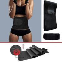 Men Women High Quality Neoprene Waist Belt Sweat Premium Waist Trainer Trimmer Belt Body Shaper Black