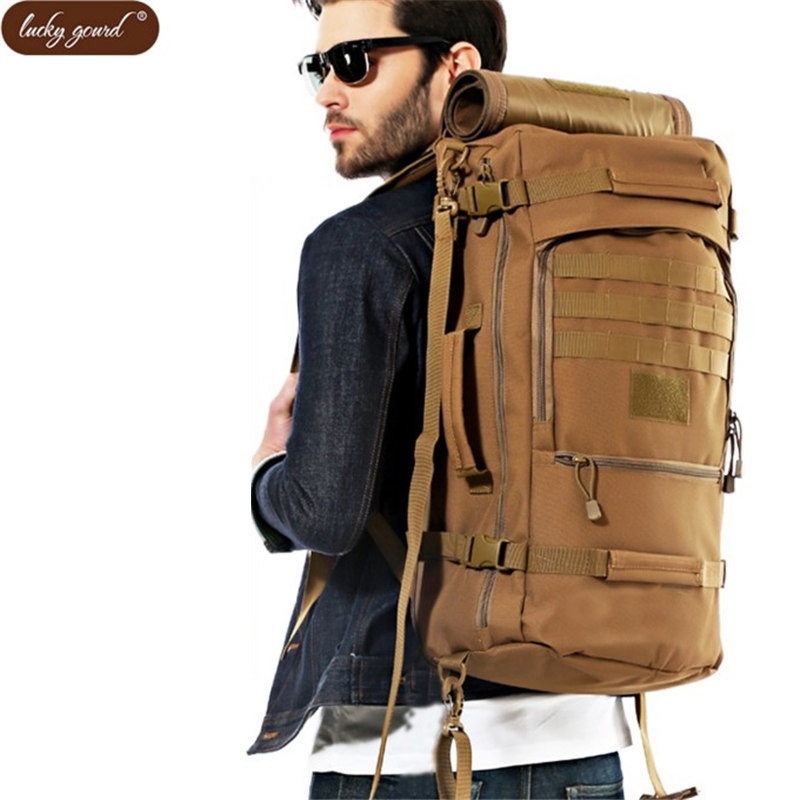 60 l waterproof nylon bag backpack Men military Business Large Capacity travel best backpack casual Women