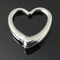 304 Stainless Steel Heart Pendants For Lovers Gift Jewelry Making Pendants Necklace 24x23x5mm Hole 18mm