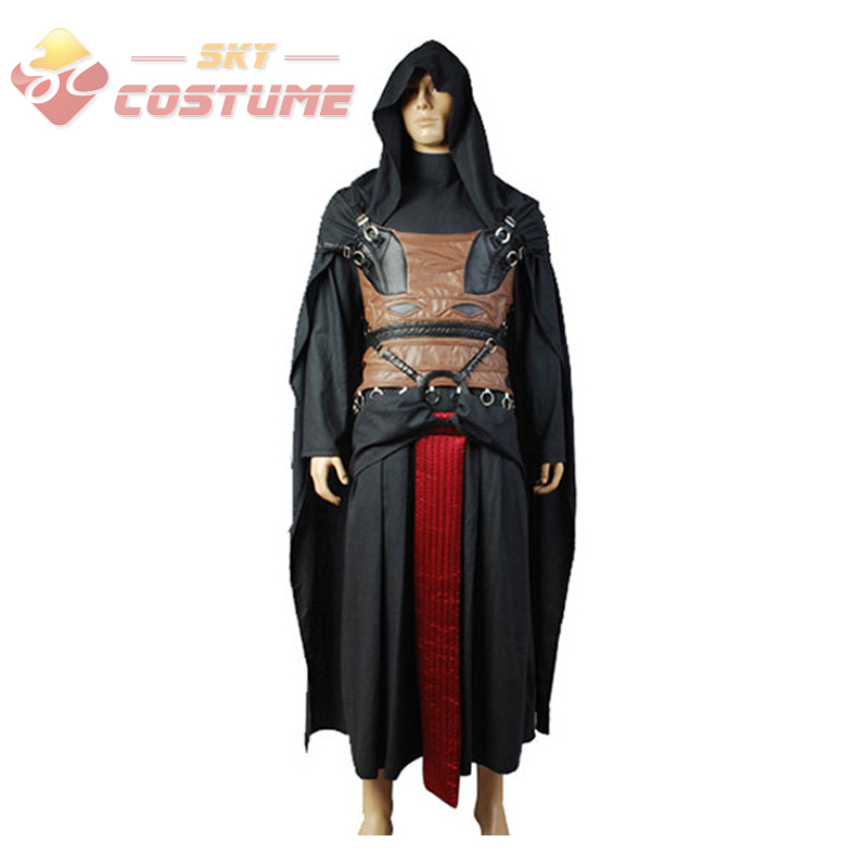 Star Wars Darth Revan Cosplay Kostym Full Set Outfit Cape Custom Made Halloween